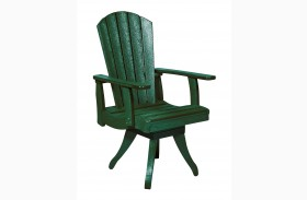 Generations Green Swivel Dining Arm Chair