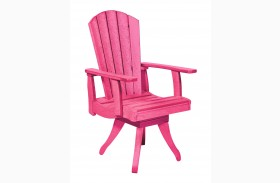 Generations Fuschia Swivel Dining Arm Chair