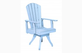Generations Sky Blue Swivel Dining Arm Chair
