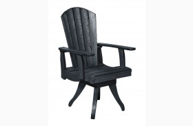 Generations Black Swivel Dining Arm Chair