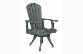 Generations Slate Swivel Dining Arm Chair