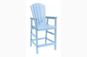 Generations Sky Blue Adirondack Dining Pub Arm Chair