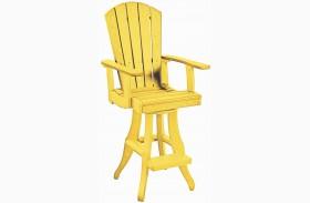 Generations Yellow Swivel Pub Arm Chair