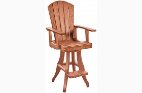 Generations Cedar Swivel Pub Arm Chair