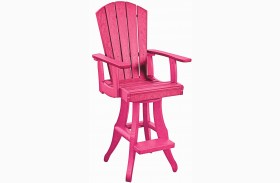 Generations Fuschia Swivel Pub Arm Chair