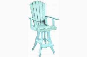Generations Aqua Swivel Pub Arm Chair