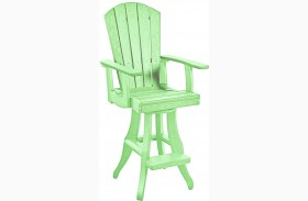 Generations Lime Green Swivel Pub Arm Chair