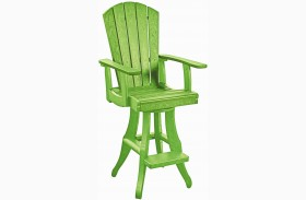 Generations Kiwi Lime Swivel Pub Arm Chair