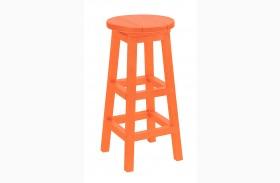 Generation Orange Swivel Bar Stool