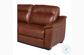 Casa Comely Coach Leather RAF Power Recliner