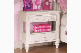 Caroline White 2 Drawer Nightstand