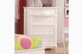 Caroline Decorative 4 Drawer Tall Chest