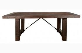 Carter Rustic Java Rectangular Extendable Trestle Dining Table