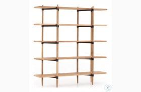 Irondale Waxed Black Holmes Bookshelf