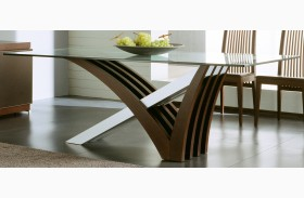 Mirage Wenge Clear Glass Table
