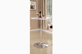 Nessa White Bar Table