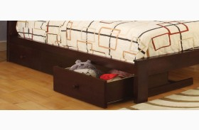 Omnus Dark Walnut Underbed Drawers Set of 3