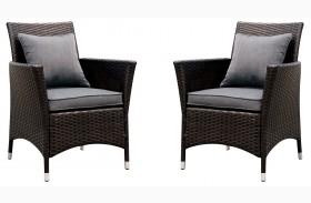 Leodore Gray Fabric Arm Chair Set Of 2