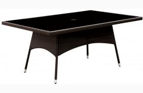 Leodore Espresso Patio Dining Table
