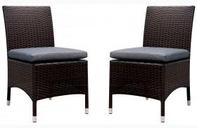 Comidore Gray Fabric Side Chair Set Of 2