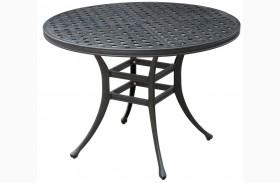 Chiara II Dark Gray Round Patio Dining Table