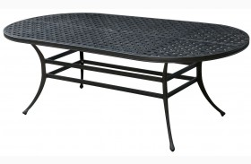 Chiara I Dark Gray Oval Patio Dining Table