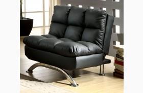 Aristo Black Leatherette Chair