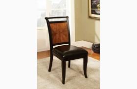 Salida I Acacia Leatherette Side Chair Set of 2