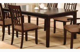 Central Park I Dark Cherry Rectangular Leg Dining Table