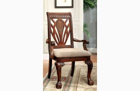 Petersburg I Cherry Arm Chair Set of 2