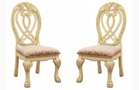 Wyndmere White Side Chair Set of 2