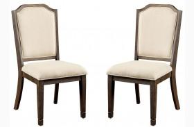 Haylee Beige Upholstered Side Chair Set Of 2
