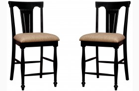 Sabrina Cherry & Black Counter Height Chair Set Of 2