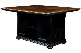 Sabrina Cherry & Black Counter Height Table