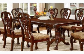 Elana Cherry Extendable Rectangular Dining Table