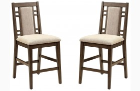 Eris II Weathered Gray Counter Height Chair Set Of 2