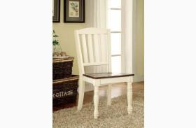 Harrisburg Vintage White and Dark Oak Side Chair Set of 2