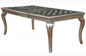 Amina Silver Extendable Rectangular Dining Table