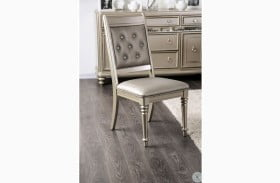 Xandra Champagne Side Chair Set Of 2