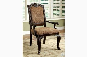 Bellagio Brown Cherry Fabric Arm Chair Set of 2