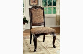 Bellagio Brown Cherry Fabric Side Chair Set of 2