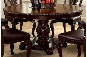 Bellagio Brown Cherry Round Pedestal Dining Table