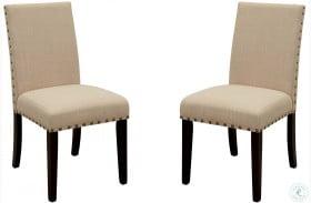 Kaitlin Light Walnut Side Chair Set of 2