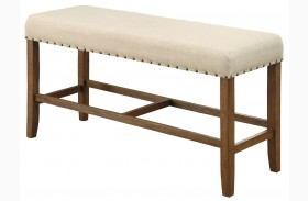 Sania Natural Tone Counter Height Bench