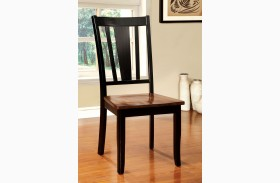 Dover Black and Cherry Side Chair Set of 2