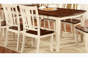 Dover Vintage White and Cherry Rectangular Extendable Leg Dining Table