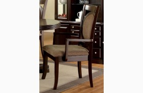 Evelyn Walnut Arm Chair Set of 2