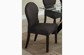 Downtown I Dark Gray Fabric Side Chair Set of 2