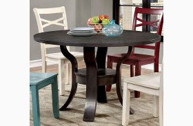 Giselle Espresso Round Dining Table