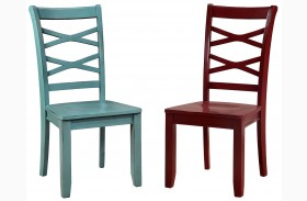 Giselle Two Color Side Chair Set Of 2